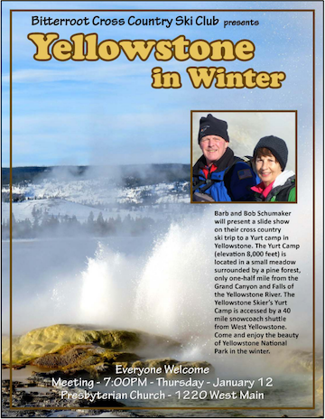 January 2017 Meeting – Yellowstone in Winter